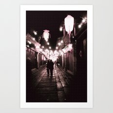Full of Love in this street Art Print