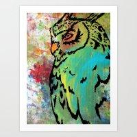 Owl #37 Art Print