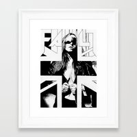 fault Framed Art Prints featuring FAULT by Kelsey Crenshaw