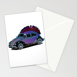 Punk Beetle Mohican Stationery Cards