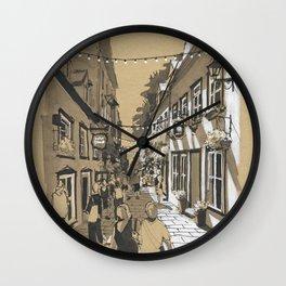 Quartier Petit Champlain, Quebec, Canada Wall Clock