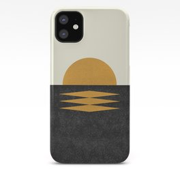 Sunset Geometric Midcentury style iPhone Case