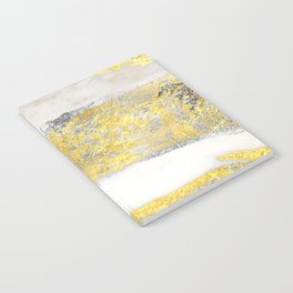 Silver and Gold Marble Design Notebook