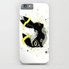 Umbreon Splash Silhouette iPhone Case