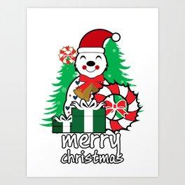 merry christmas vector image illustration Art Print
