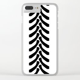 Tractor Tyre Tread Marks Clear iPhone Case
