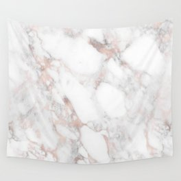 Rose Gold Marble Blush Pink Metallic Foil Wall Tapestry