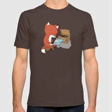 Record Player MEDIUM Brown Mens Fitted Tee
