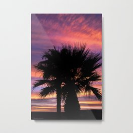 Palm Sunset - 7a Metal Print