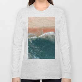 Tropical Drone Beach Photography Long Sleeve T-shirt
