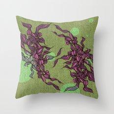 Waves #3 green Throw Pillow