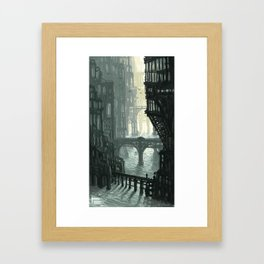 City of Bridges Framed Art Print