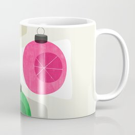 Retro Holiday Baubles Coffee Mug