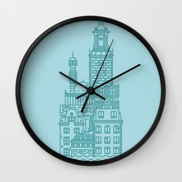 Stockholm (Cities series) Wall Clock