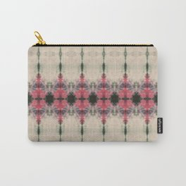 Pink and Green Ornamental Shibori Carry-All Pouch