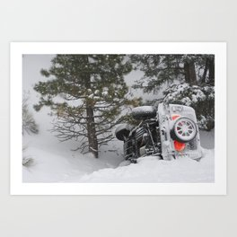 Winter Wipeout Art Print