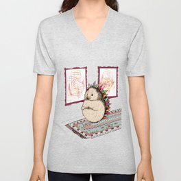Hedgehog Artist Unisex V-Neck