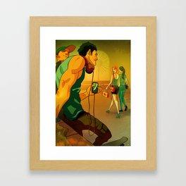 First sight Framed Art Print