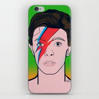 david bowie iPhone & iPod Skins featuring David Bowie by Alli Vanes
