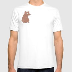 Bear Mens Fitted Tee MEDIUM White