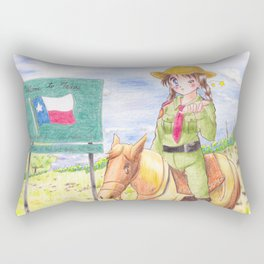 Texas Highway Patrol Rectangular Pillow