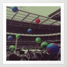Coldplay at Wembley Art Print