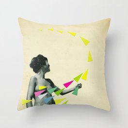 She's a Whirlwind Throw Pillow