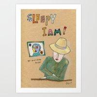 Sleepy I am. Art Print
