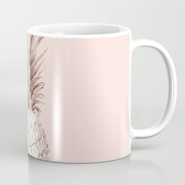 Rose Gold Pineapple on Blush Pink Coffee Mug