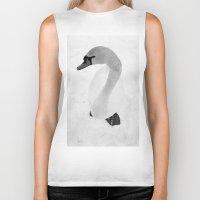 swan queen Biker Tanks featuring swan by Richard PJ Lambert