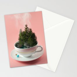 Hot cup of tree Stationery Cards