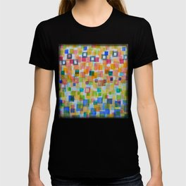 Light Squares and Frames Pattern T-shirt