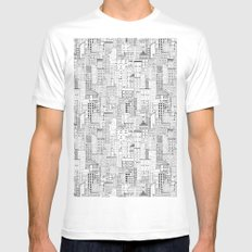 City Doodle (white) White MEDIUM Mens Fitted Tee