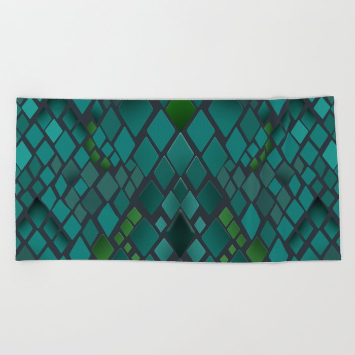 Digital graphics snake skin. Beach Towel