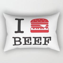I Love Beef Rectangular Pillow