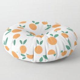 Minimalist Oranges Floor Pillow