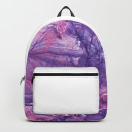 Smokey Ultra Violet and Pink Marble Backpack