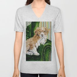Sir Beckett, Dog With An Education Unisex V-Neck