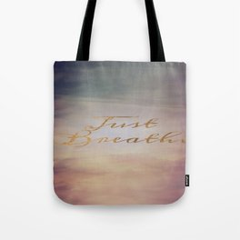 Just Breathe | Water Clouds Sunset Tote Bag
