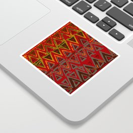 Aztec Fire Ritual Batik Sticker