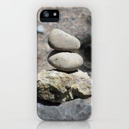 Balance Stacked Rocks Yellowstone National Park iPhone Case
