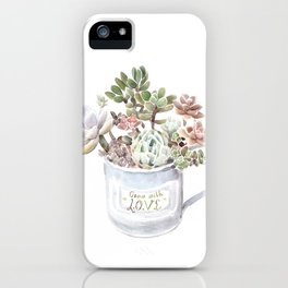 Grow with Love iPhone Case