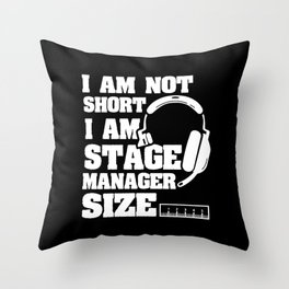 Stage Manager Theatre Manager Size Gift Throw Pillow