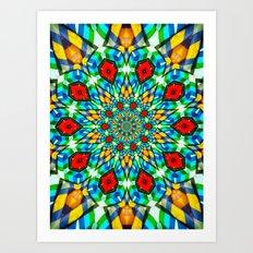Folded Fabric Flower Art Print