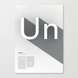 The Typographic Alphabet: Univers (21/26) Canvas Print