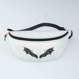 Black Dragon Wings Fanny Pack