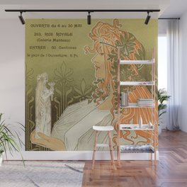 Art nouveau 1897 Artistic Club of Schaerbeek by Privat-Livemont Wall Mural