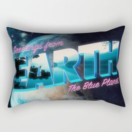 Greetings from Earth, The Blue Planet Rectangular Pillow
