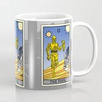 tarot Mugs featuring The Fool - Tarot Card by kamonkey
