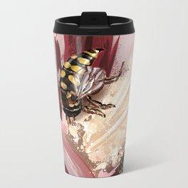 Wasp on flower 7 Metal Travel Mug